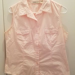Aeropostale Pink Sleeveless Cotton Shirt